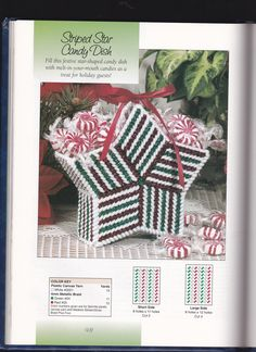 Plastic Canvas Ornaments, Plastic Canvas Tissue Boxes, Plastic Baskets, Plastic Canvas Christmas, Plastic Canvas Crafts, Plastic Canvas Patterns, Gift Baskets, Winter Christmas Gifts, Christmas Crafts
