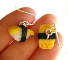Tamago Sushi Earrings by KawaiiCulture.deviantart.com on @deviantART