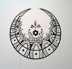 Cresent moon design by Byakuren-Studios.deviantart.com on @DeviantArt