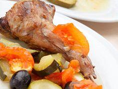 Conejo al horno con verduras | Alimenta Sonrisas