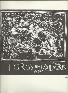 Pablo Picasso Vallauris Toros corrida par VintageFromFrance sur Etsy, £15.00