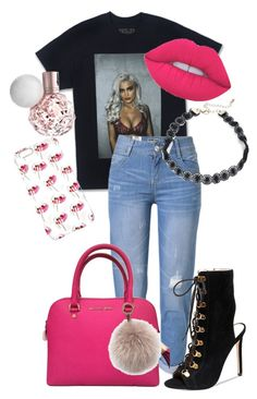 """""""Outfit #74"""" by purple4048 on Polyvore featuring WithChic, Steve Madden, Design Lab, Michael Kors, Oscar de la Renta and Lime Crime"""