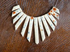statement necklace cream color ecru cascade by kawajewelry on Etsy