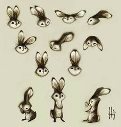 """Bunny Sketches"" by Heather G"