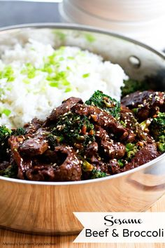 This amazing homemade sesame beef and broccoli is so much better than take out.  Tender strips of sirloin are marinaded overnight then sauteed with fresh broccoli florets in a flavorful sauce.  Add a side of steamy basmati or jasmine rice and dinner is served in no time flat. I'm a busy Mom and my life …