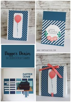 Stampin' Up! - Dapper Denim - In Colour 2016-18 - Val Moody; Stamping With Val. X