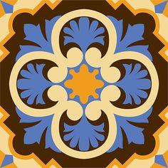 PH 205 Tile Patterns, Print Patterns, Encaustic Tile, Turkish Art, Ceramic Painting, Mandala Art, Folk Art, Pattern Design, Quilts