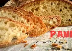 Pane fatto in casa a lunga lievitazione e con lievito di birra