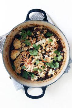 arroz con coliflor