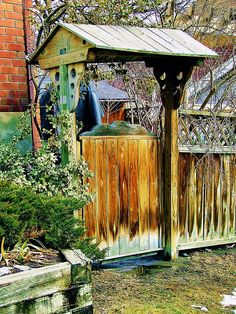 An attractive gate into someone's backyard.