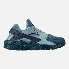 3e6eaf43ac8a Right view of Men s Nike Air Huarache Run Premium Running Shoes in Blue  Force Diffused Blue Ocean