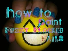 How to Paint Fuzzy Flocked Nails
