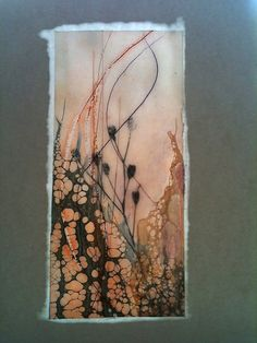 Wax Paper I by Alicia Tormey, via Flickr - wax on paper. Brilliant!~