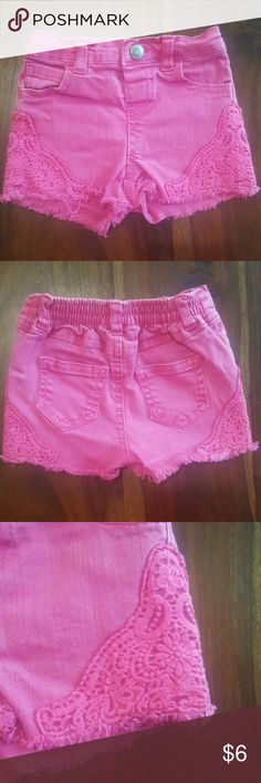 Koala Baby Pink Shorts Pink shorts with lace detail by Koala Baby.  Gently used, excellent condition. Koala Kids Bottoms