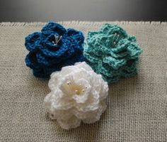 Pretty Crochet Flowers - with instructions.