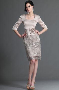 eDressit Elegant Sleeves Mother of the Bride Dress