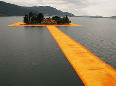Floating Piers in Lake Iseo by Christo and Jeanne-Claude