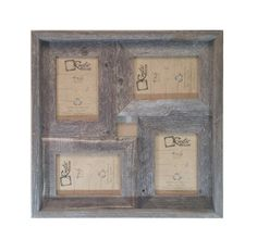 4x6 Multi-Direction Rustic Barn Wood Collage by RusticDecorFrames