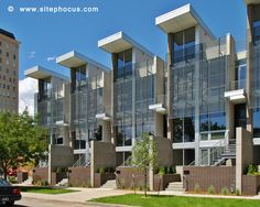 Contemporary townhomes near downtown Denver.