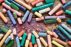 Check out Pastel crayons with pigment dust by chamillewhite on Creative Market