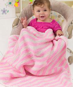 Peppermint Stripes Blanket Knitting Pattern | Red Heart