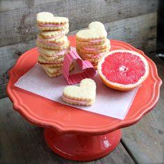 Ruby Red Grapefruit Sandwich Cookies