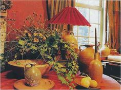 Discovering Walda Pairon Of course people knew of Walda Pairon before I did, but when I found her, it was like finding Hugh Newell Jacobes. How Beautiful, Beautiful Gardens, Outdoor Table Settings, Dried Lemon, Kitchen Chandelier, Kitchen Views, Belgian Style, Leaf Table, Clay Pots