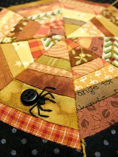 Halloween Block by PatchworkPottery,