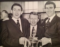 Dave Mackay, Terry Dyson and Bobby Smith with the FA Cup, 1961