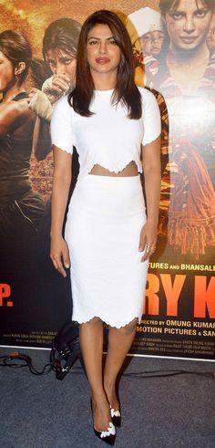 Priyanka Chopra at the 'Mary Kom' trailer launch.