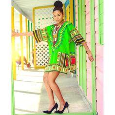 Lime African Dashiki Shirt Only $15