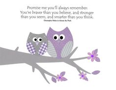 Wise Owls in Purple and Grey - Kids Wall Art Nursery Decor Baby Girl Room Decor Owls by vtdesigns, $14.00