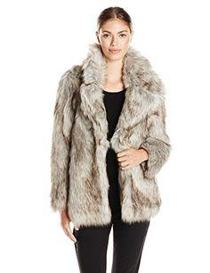 Betsey Johnson Women's Faux Fur Coat