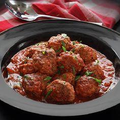 Paleo Crock Pot Meatballs in Marinara Sauce. Easy gluten-free recipe for slow-cooked meatballs with Italian seasonings in a rich sauce.