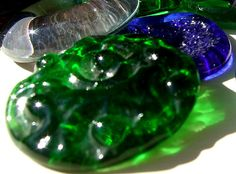 L.Nichols glass buttons, sometimes they even look like glass