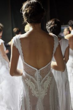 backstage at Atelier Zolotas fashion show 2016 Wedding Dresses, Wedding Gowns, Wedding Day, Dresses 2016, Bride Dresses, Magical Wedding, Backstage, Fashion Show, Backless