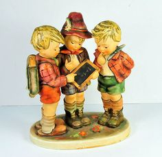 "LIMITED EDITION MI HUMMEL GOEBEL ""SCHOOL BOYS"" FIGURINE, RARE 1961 ISSUE"
