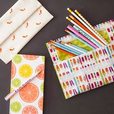 How to Make No-Sew Pencil Pouches for Back to School (or Work!)