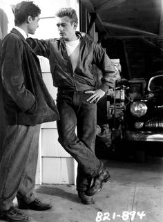 """James Dean and Sal Mineo: """" Screen test for Rebel Without a Cause. """""""