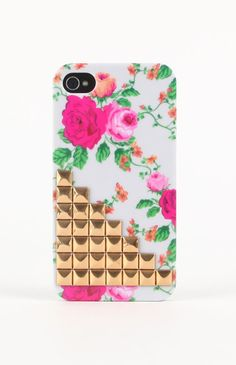 With Love From CA Big Floral Stud iPhone Case