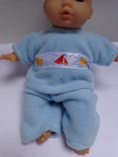 Dolls Clothes Fleece Top & Trousers to fit 30cm 12in Baby Dolls, ELC Cupcake SOLD