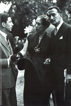 Elsa Schiaparelli with Salvador Dali