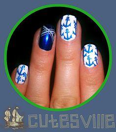 us marines nails | Marine Nails (Summer nails)