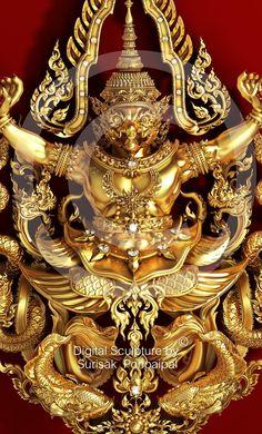 Thai Design, 3d Design, Mughal Jewelry, Thai Decor, Temple Thailand, Ancient Indian Art, Lord Vishnu Wallpapers, Thai Art, Dragon Art