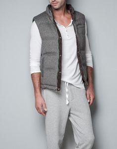 REVERSIBLE HERRINGBONE WAISTCOAT - Homewear - Man - ZARA United Kingdom