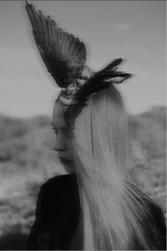 Taxidermy wing headpiece by Loren Wood