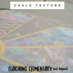 Chalk texture is a perfect provocation for outdoor learning #outdoorclassroom #outdoorlearning #iteachoutdoors #iteachk #iteachkinder #iteachkinders #iteachkindergarten