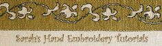 hand embroidery tutorials by sarah