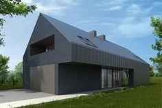 #Grey painted brick. House in Przysucha by Damian Kotwicki