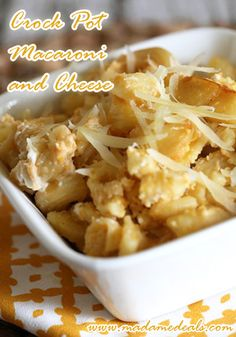 Crock Pot Macaroni and Cheese http://madamedeals.com/crock-pot-macaroni-cheese/ #inspireothers #recipes